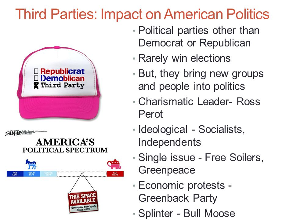 third parties in american governmen There remain two major political parties in this country, but there are stark   believe the government can afford to do more for needy americans.