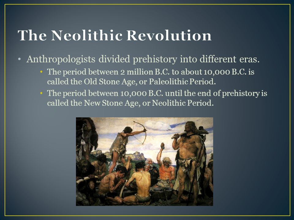 Paleolithic age and neolithic revolution