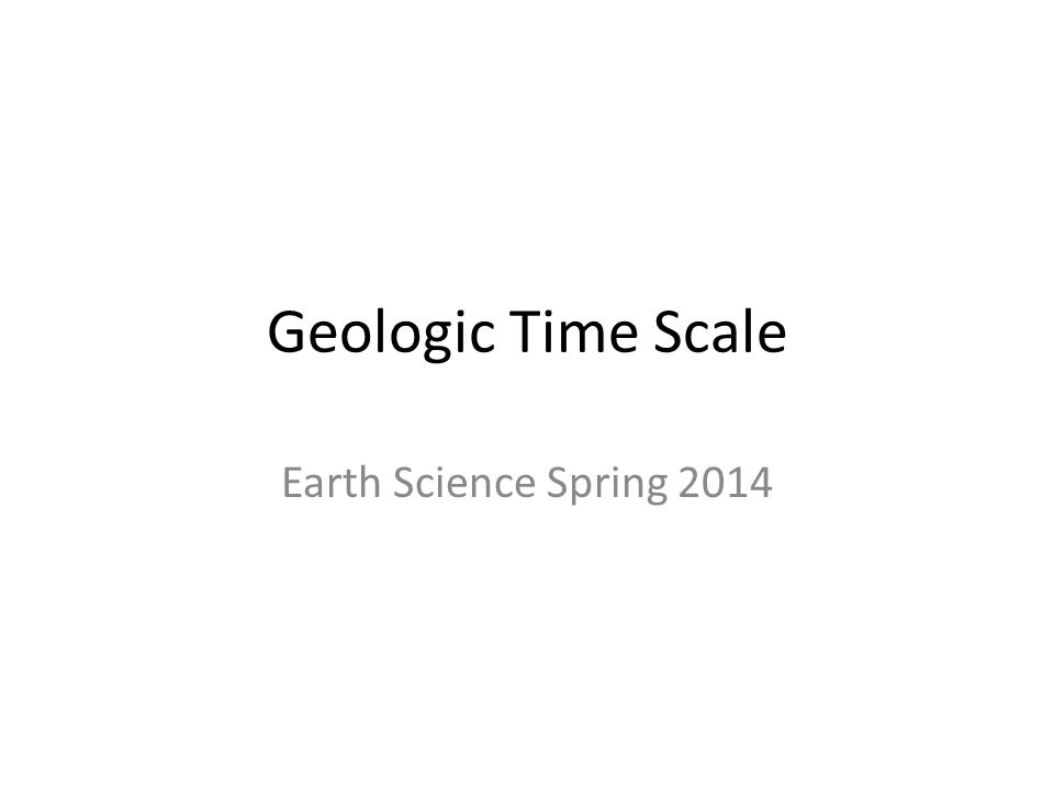 Geologic Time Scale Earth Science Spring ppt download – Geologic Time Scale Worksheet