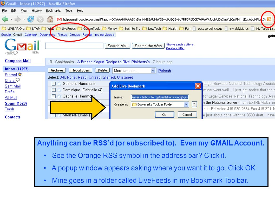 Anything can be RSS'd (or subscribed to). Even my GMAIL Account.