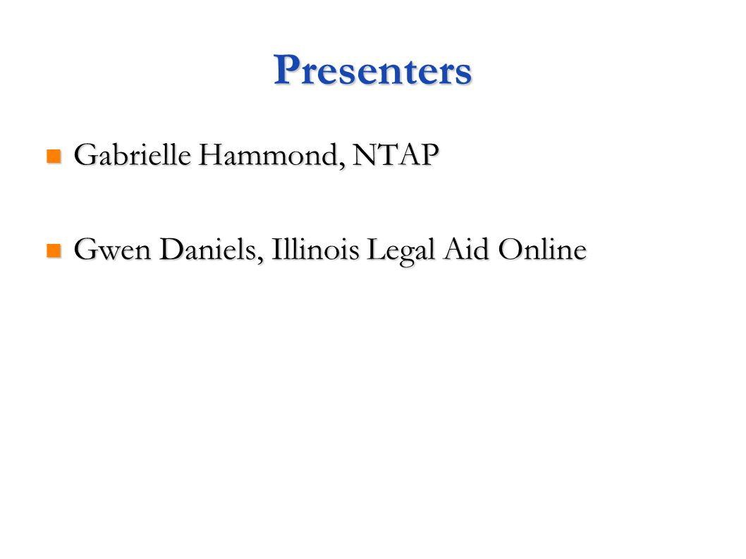 Presenters Gabrielle Hammond, NTAP