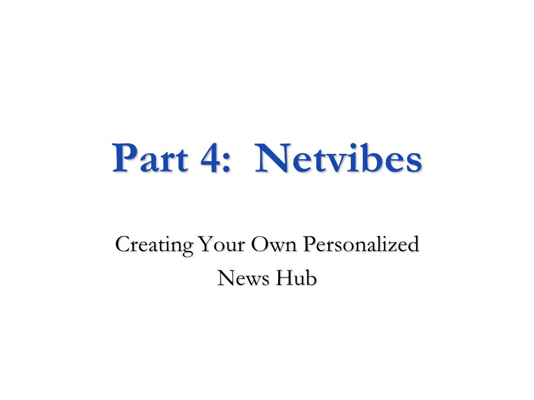 Creating Your Own Personalized News Hub