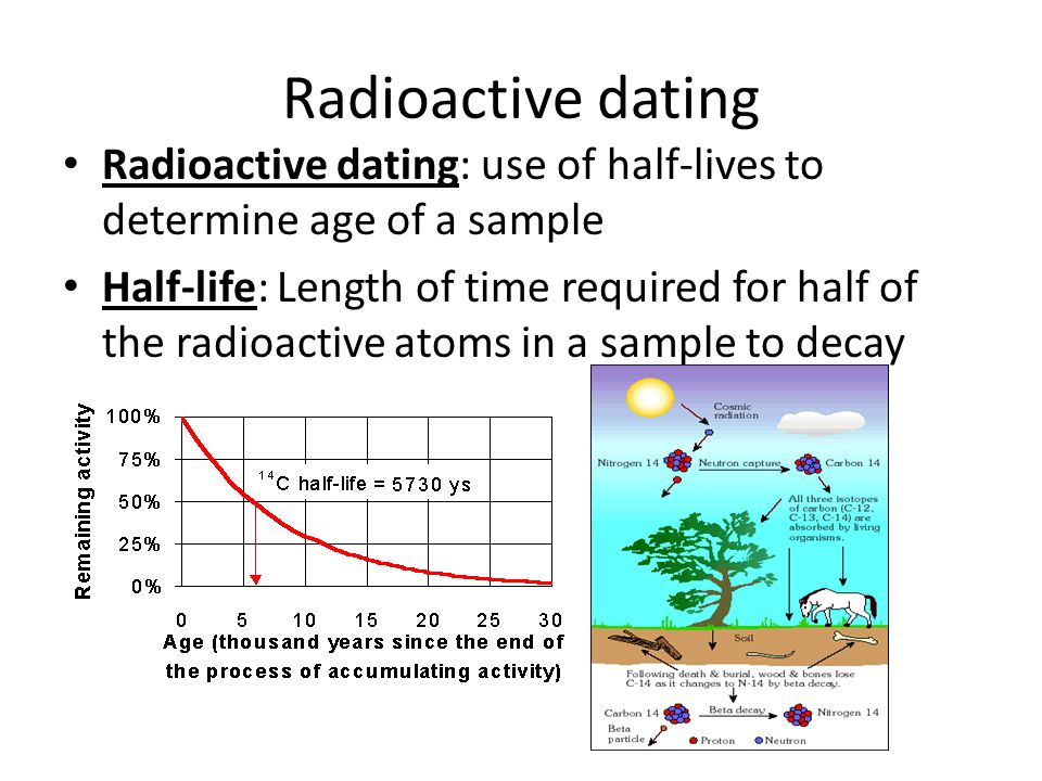 from Benson radioactive dating calculation sample