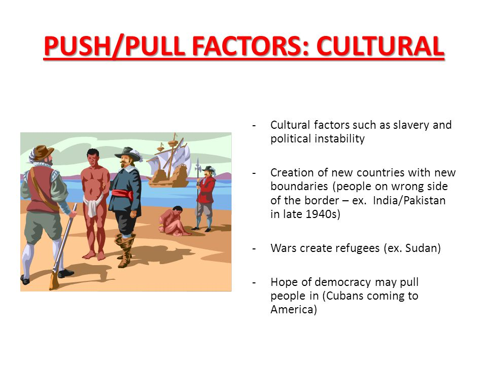 concept of push and pull factors management essay Push and pull factors in syrian migration question syria has been embroiled in a civil war since 2011 since the beginning of that war, more t.