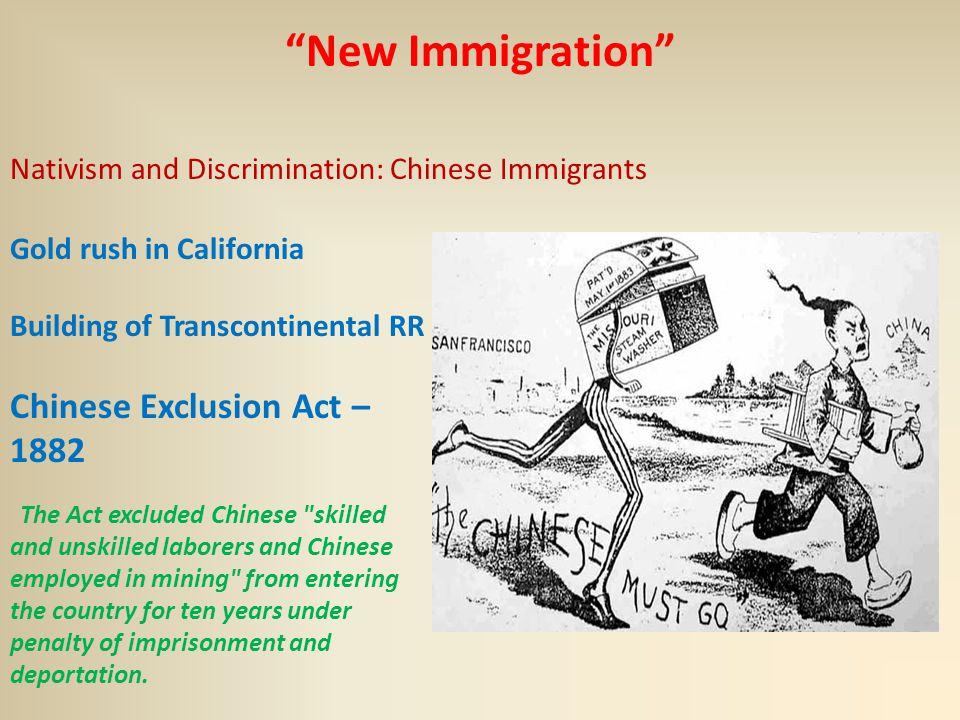 reason for the chinese exclusion act