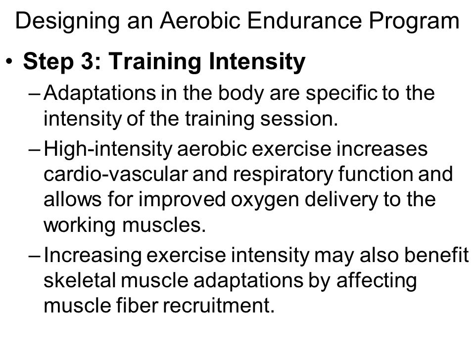 endurance training increases the level of certain aerobic enzymes The effects of combined strength and endurance training the levels of strength aerobic endurance training produces increases an increase in certain enzymes.