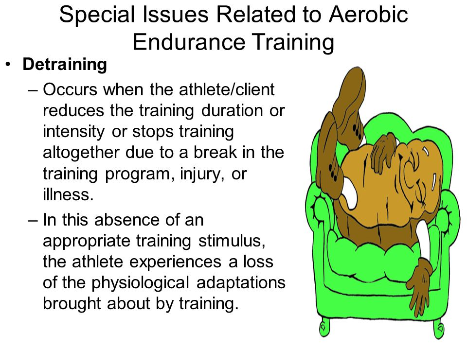 physiological adaptations to exercise of an aerobic training program essay Training to improve your performance obeys the principles of training  similar metabolic adaptations during exercise after low volume sprint interval.
