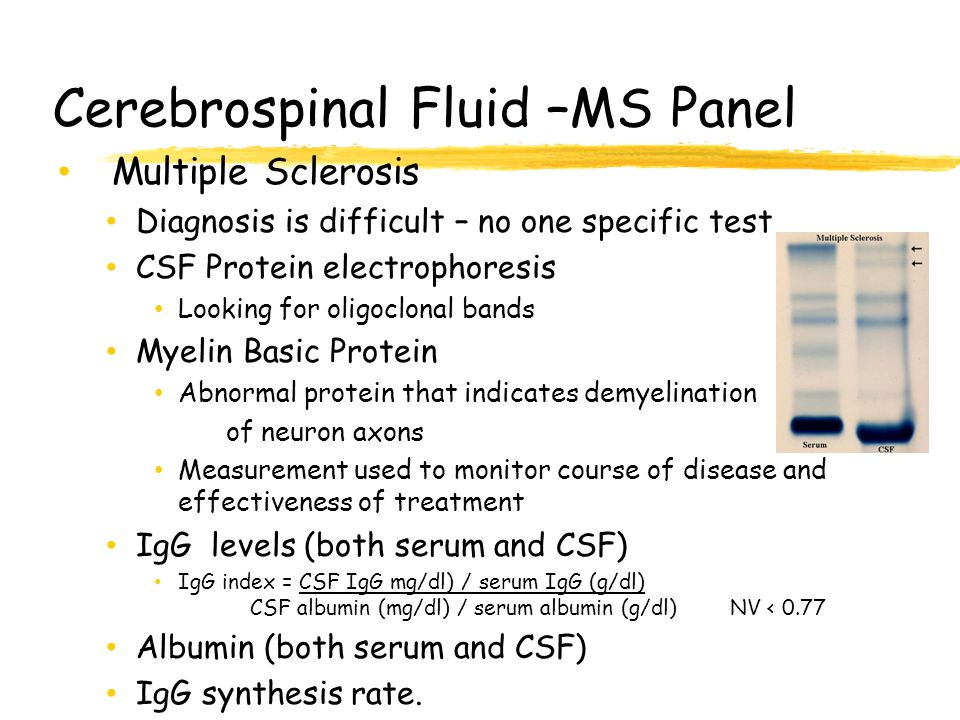 Cerebrospinal Fluid –MS Panel