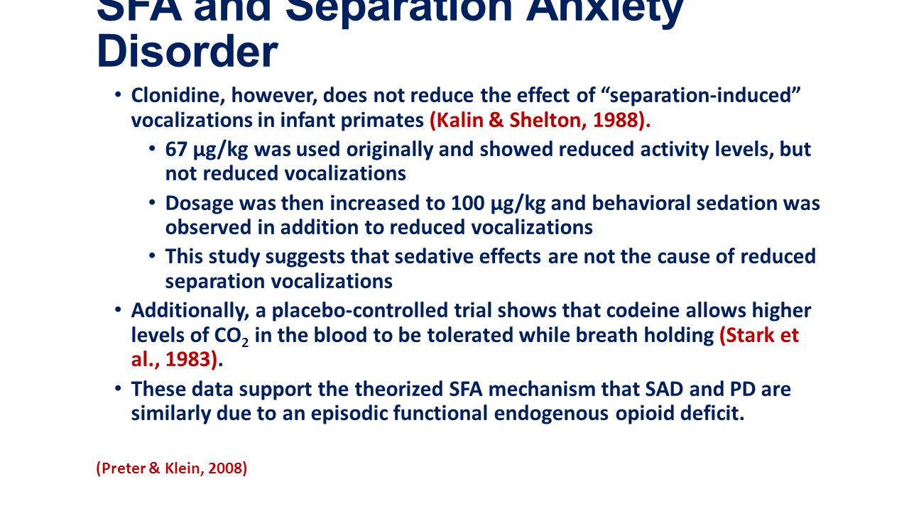 separation and anxiety disorder Continued separation anxiety disorder all children have some level of separation anxiety it's a normal phase of development in babies and toddlers.