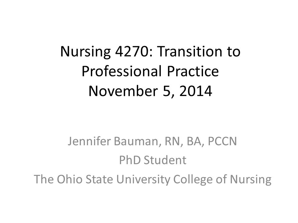 transition to a professional nursing essay This means the transition from student to professional is generally challenging new nurses applying for licensure nursing graduates must obtain a license to practice in their state.