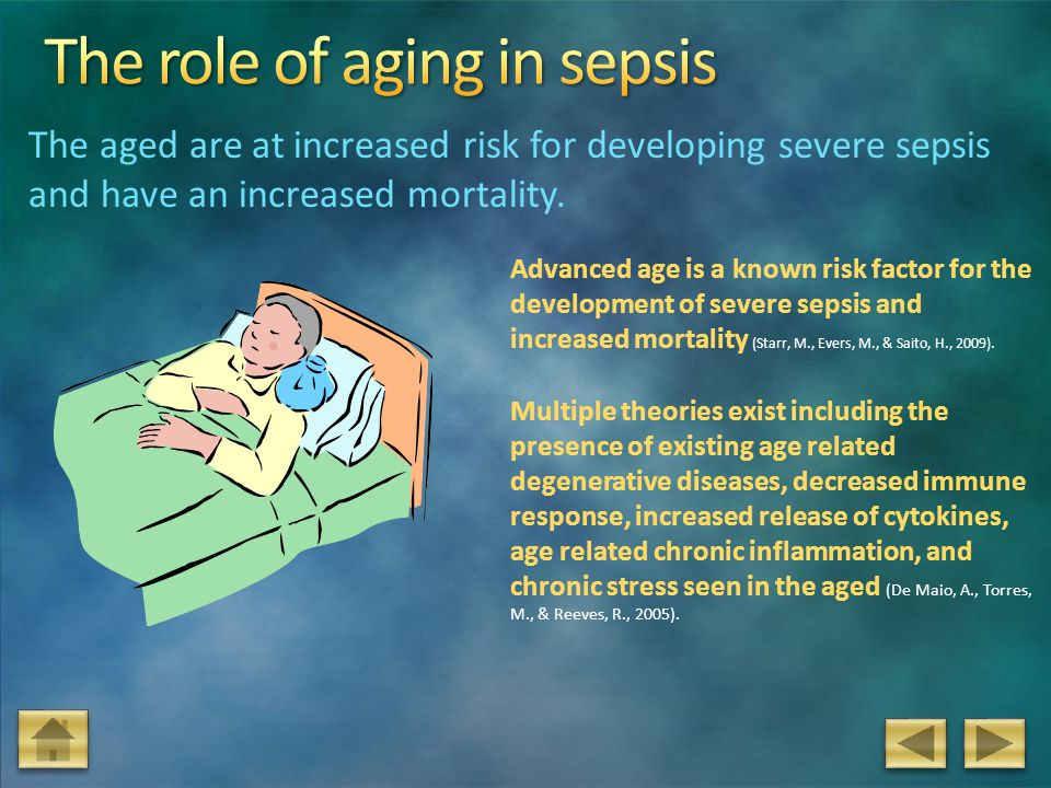 The role of aging in sepsis
