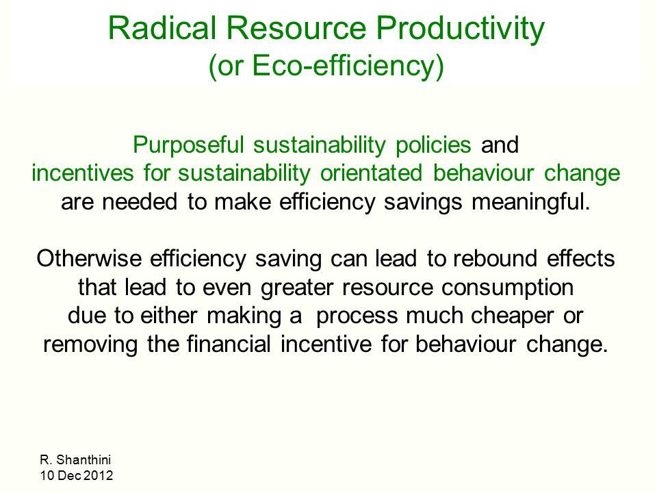 Radical Resource Productivity