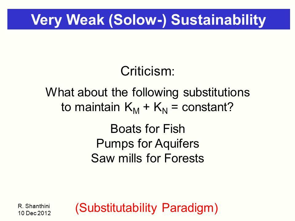 Very Weak (Solow-) Sustainability