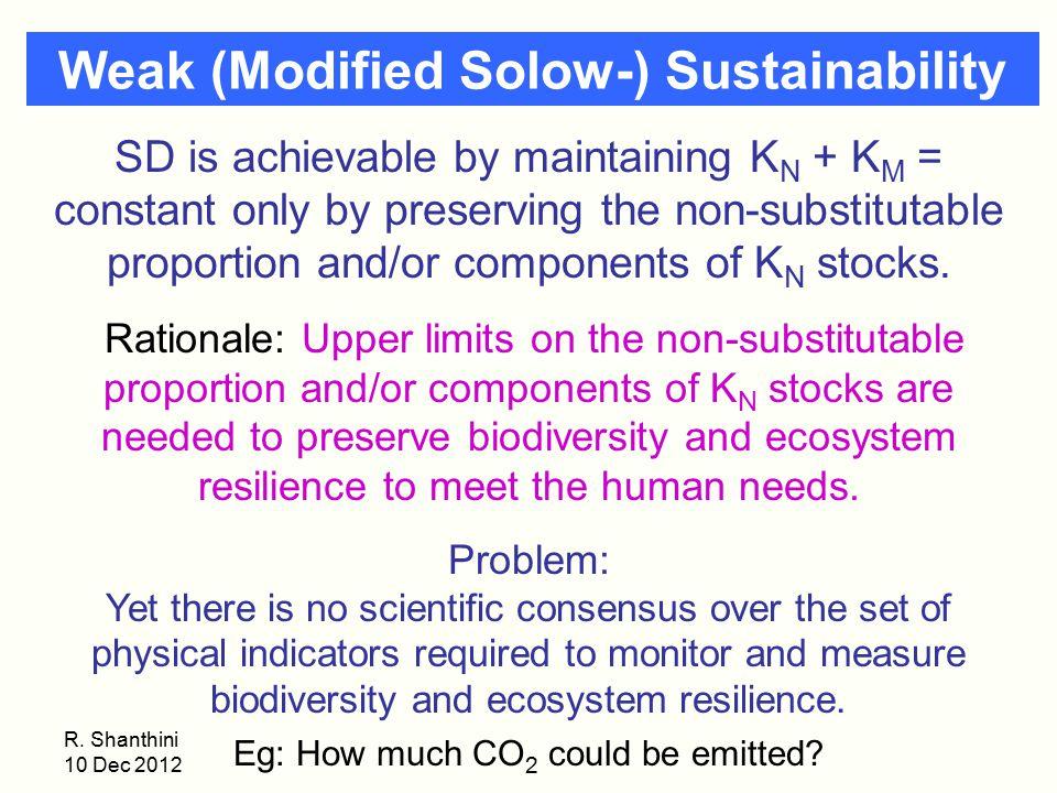 Weak (Modified Solow-) Sustainability