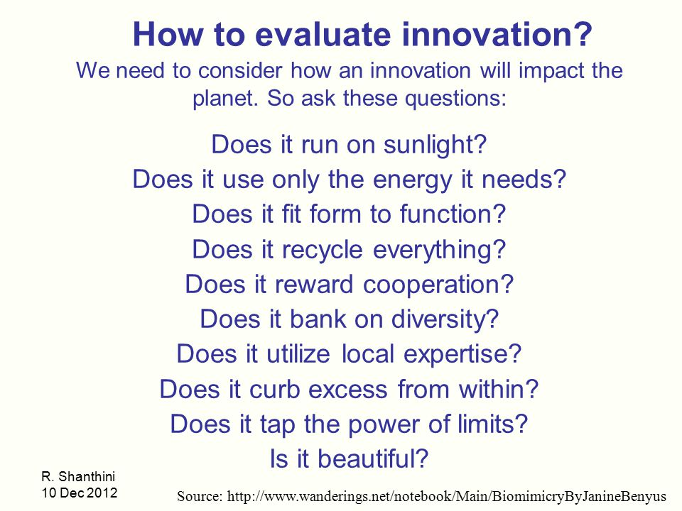 How to evaluate innovation