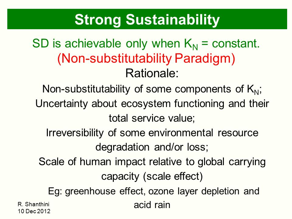 Strong Sustainability