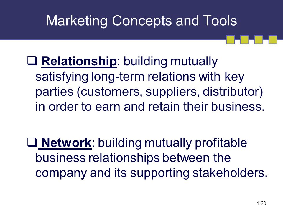 marketing and relationship building