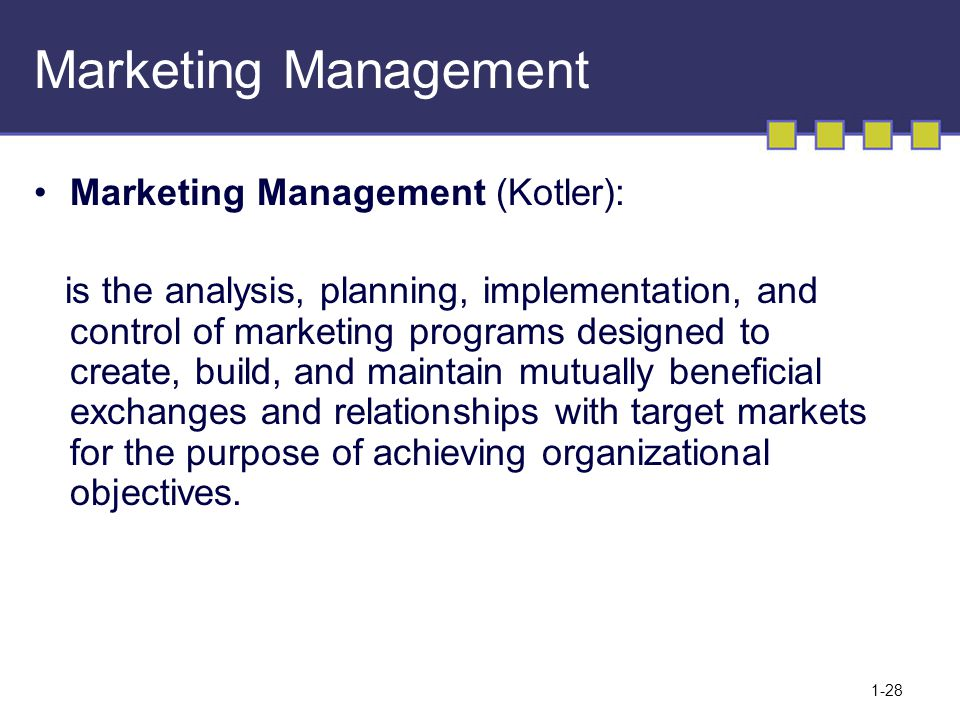 marketing management discussion week 1 Length: 10 weeks online effort: 7 hours per week  please note that our online course prices are subject to an increase from 1 april 2018  after taking this marketing management course, you'll walk away with the confidence to:  your fellow students and head tutor through the online campus discussion forums.