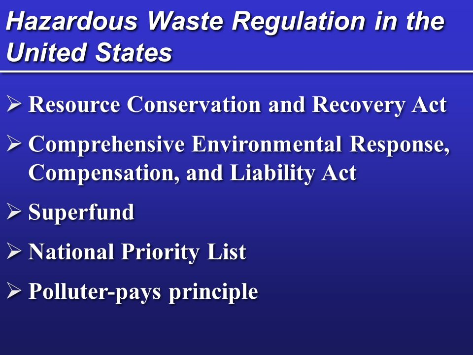hazardous waste regulation Dec is amending the hazardous waste management regulations (6 nycrr parts 370-374 and 376) public comments are being accepted.