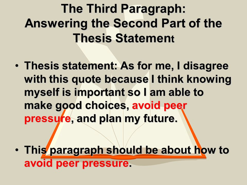essential parts of a thesis statement