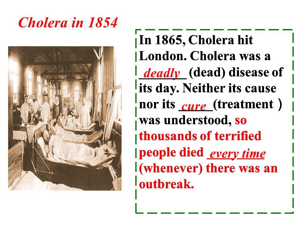 Cholera in 1854