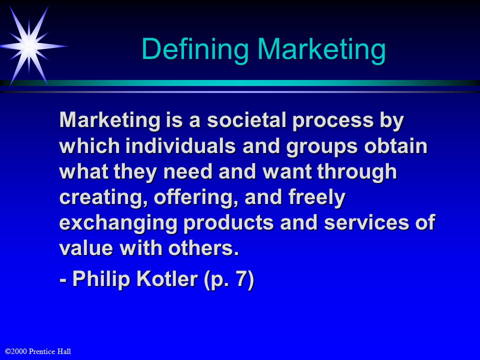 satisfying needs and wants through an exchange process marketing essay Define and describe the general principles of marketing, including needs, wants  to satisfy the needs of a customers through exchange in this process.