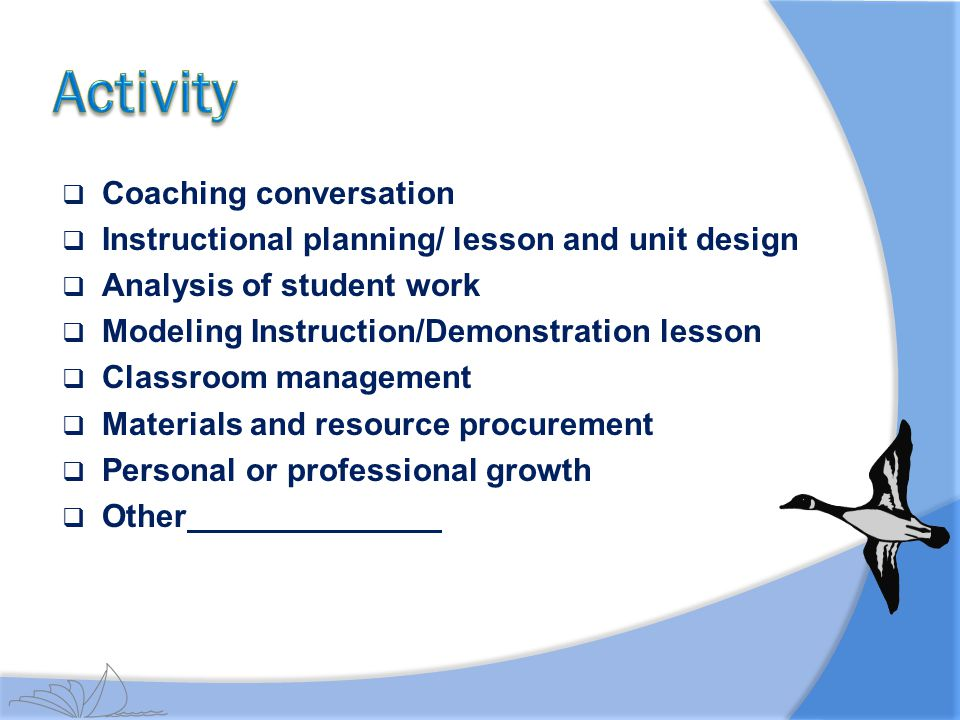 Activity Coaching conversation