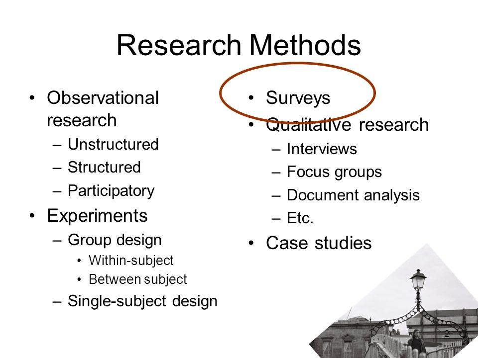 observation method in research methodology An overview of qualitative research methods direct observation, interviews, participation, immersion, and focus groups.