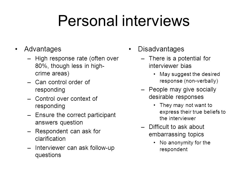 personal interviews advantages disadvantages - Structured Interview Questions And Answers Advantages And Disadvantages