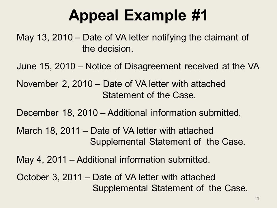 20 appeal example va appeal letter sample
