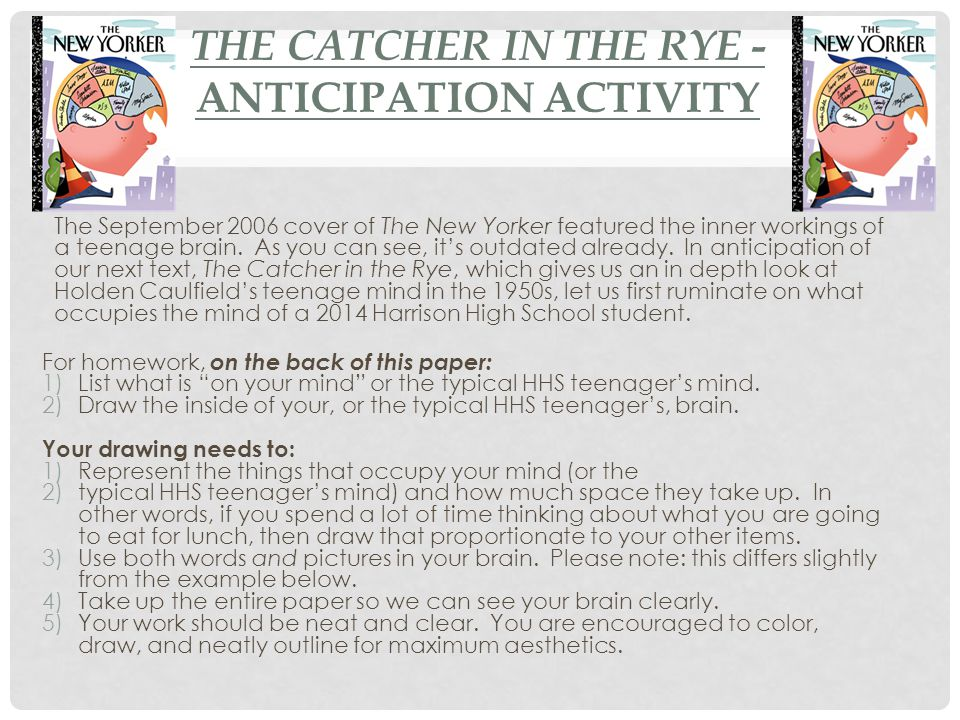 essay questions for catcher in the rye Home → sparknotes → literature study guides → the catcher in the rye → suggested essay topics the catcher in what is the role of sexuality in the catcher.