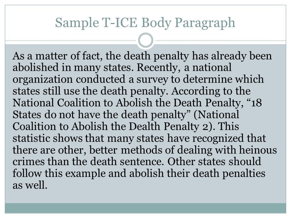 death penalty essay example