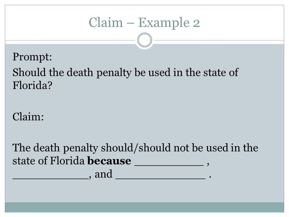 Death penalty argument thesis