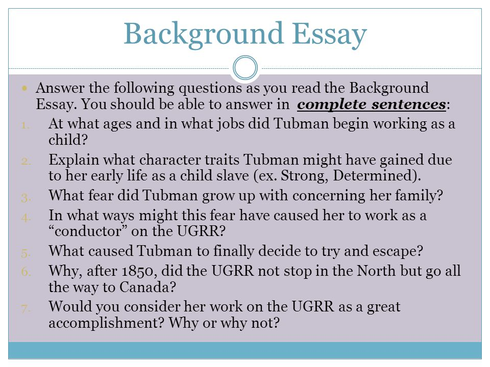 harriet tubman dbq project jump start ppt video online background essay answer the following questions as you the background essay you should be