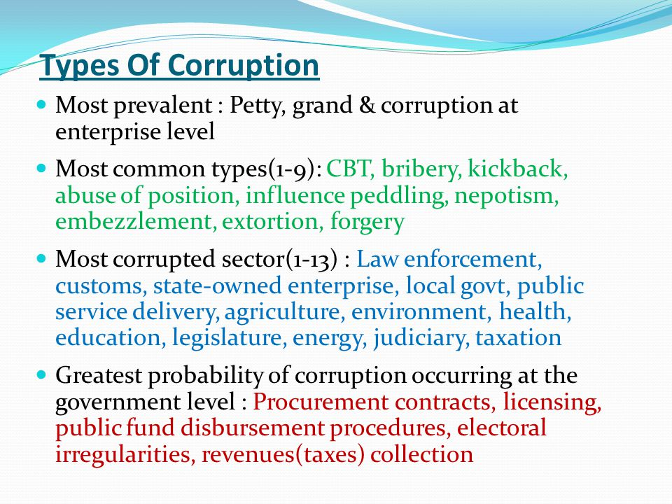 Current Situation Of Corruption And Money Laundering In