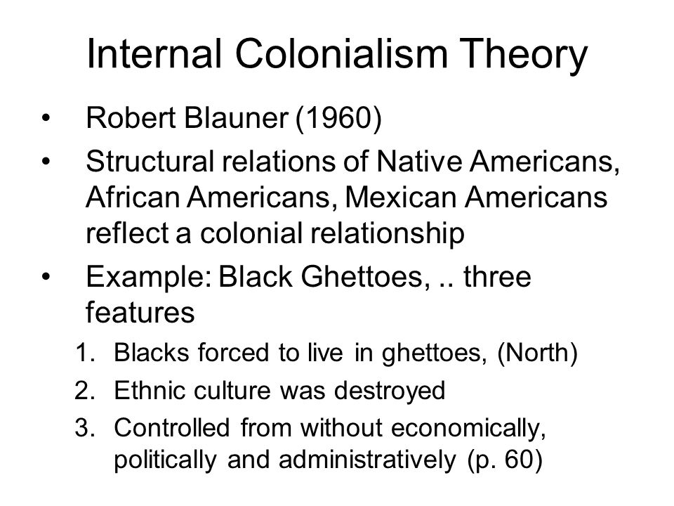 internal colonialism Full-text paper (pdf): reconciliation and the problem of internal colonialism.