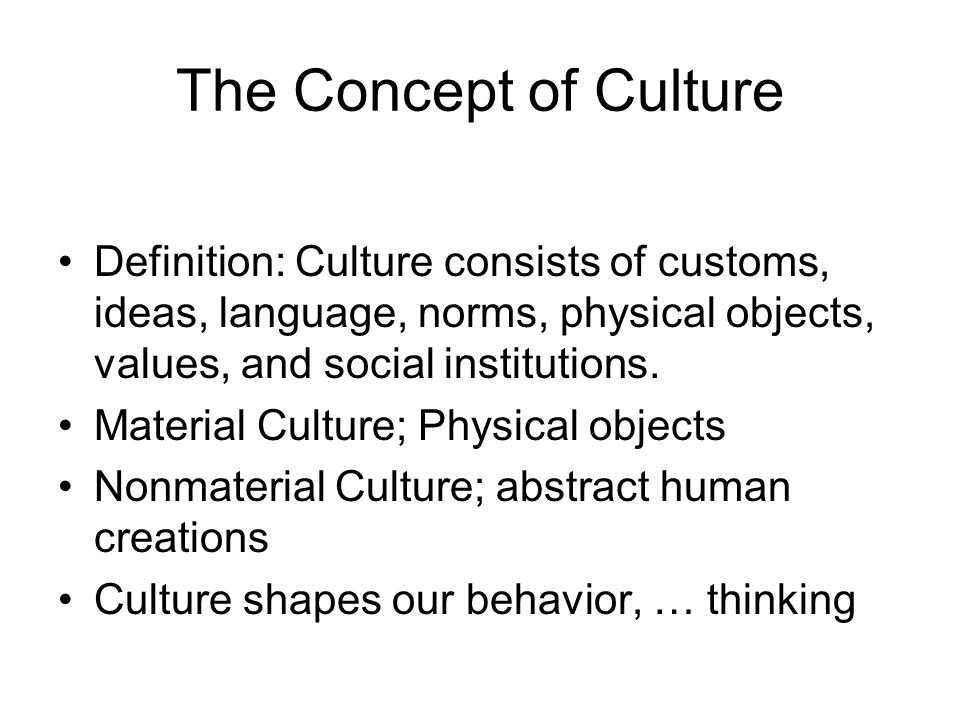 concept of culture Cultural relativism refers to the idea that the values, knowledge, and behavior of people must be understood within their own cultural context this is one of the most fundamental concepts in sociology, as it recognizes and affirms the connections between the greater social structure and trends and.