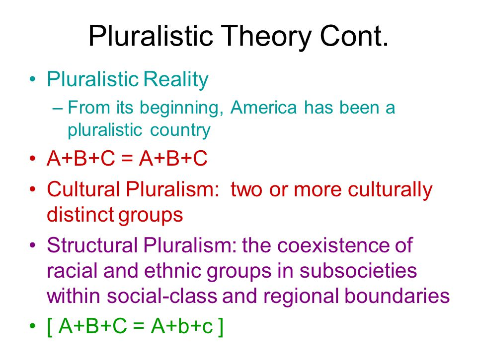 assimilation versus ethnic pluralism Study 6 chapter 2: assimilation and pluralism flashcards from anthony m on studyblue.