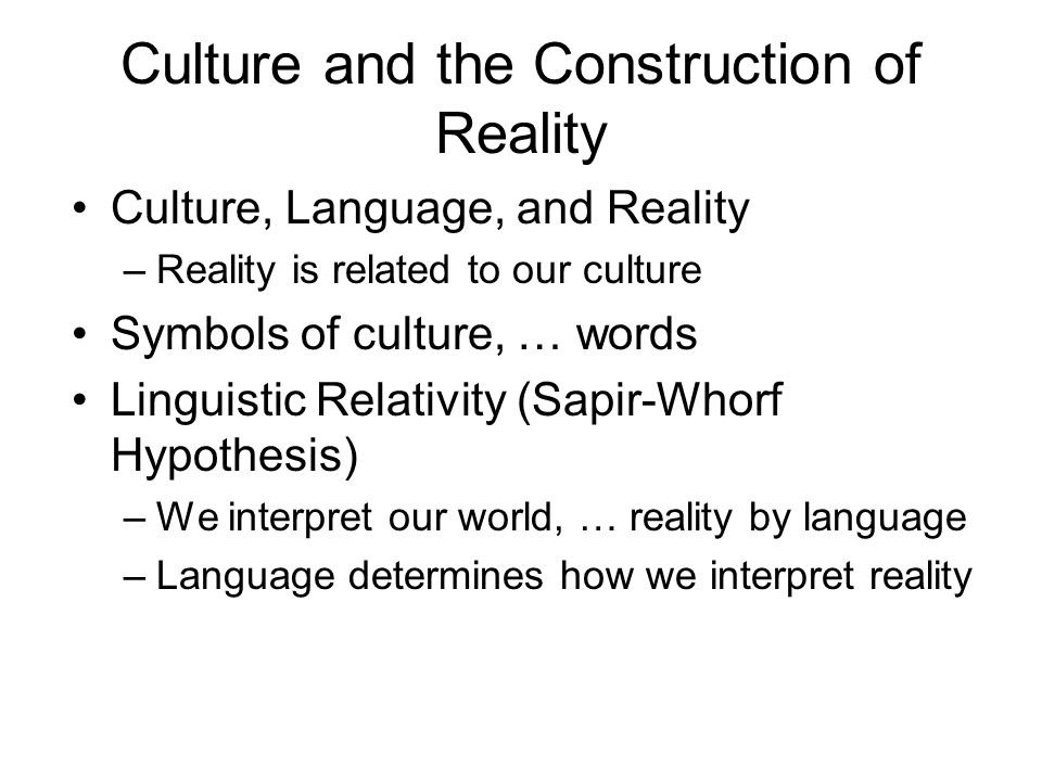 language relativity hypothesis What is the sapir-whorf hypothesis the sapir-whorf hypothesis is the theory that an individual's thoughts and actions are determined by the language or languages.