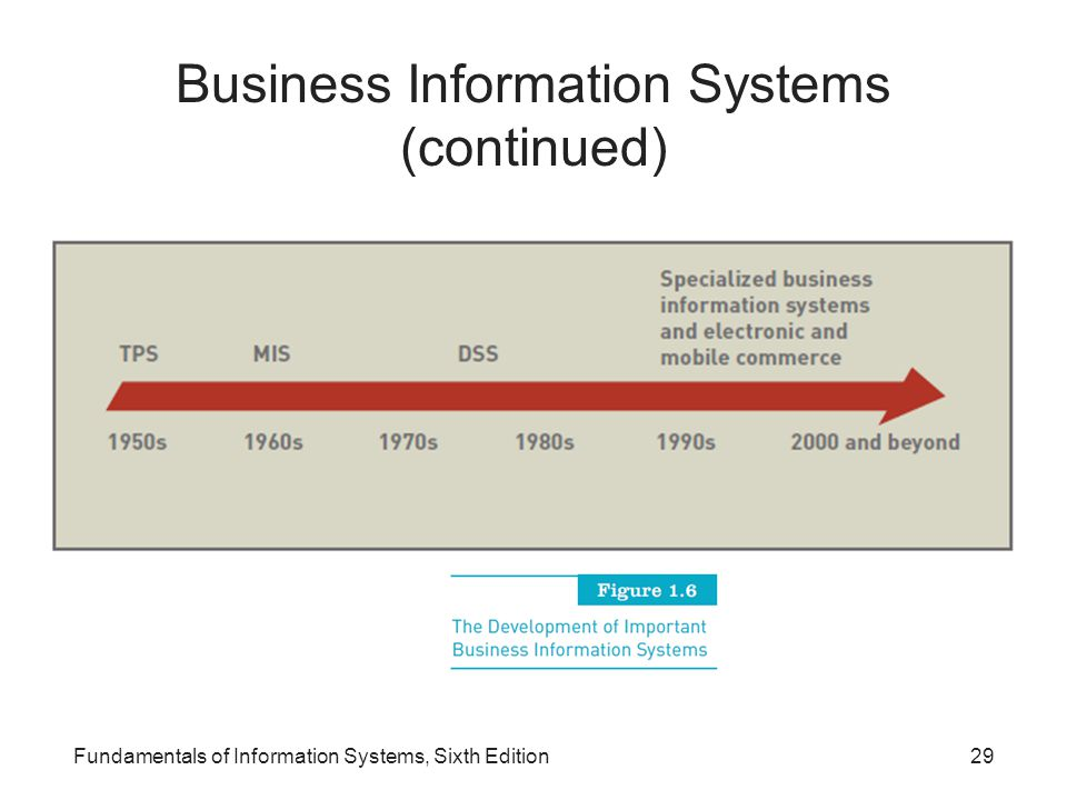 Business Information Systems (continued)