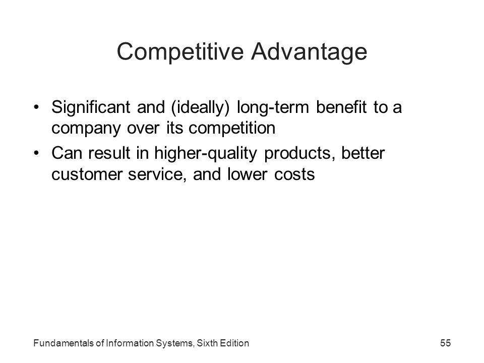 fundamental it strategies for competitive advantage If business has a fundamental law, it's the law of competitive there are 6 sources of competitive advantage 1 strategy is your ability to focus your.