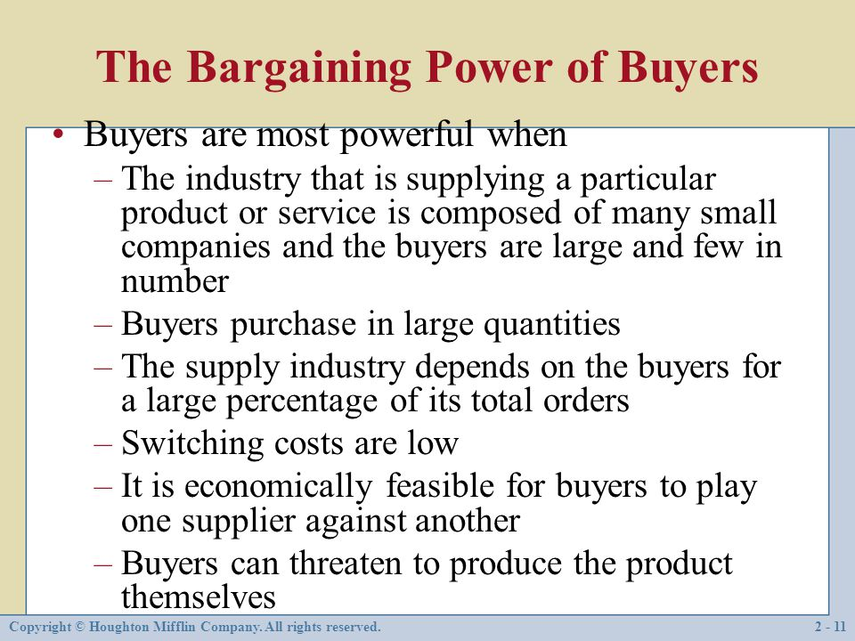 bargaining power of buyers in hotel industry Bargaining power of buyers: the ultimate buyers in this industry are the recycling factories who want the best quality recyclable waste that is available.