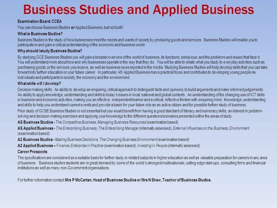 A2 business studies coursework help