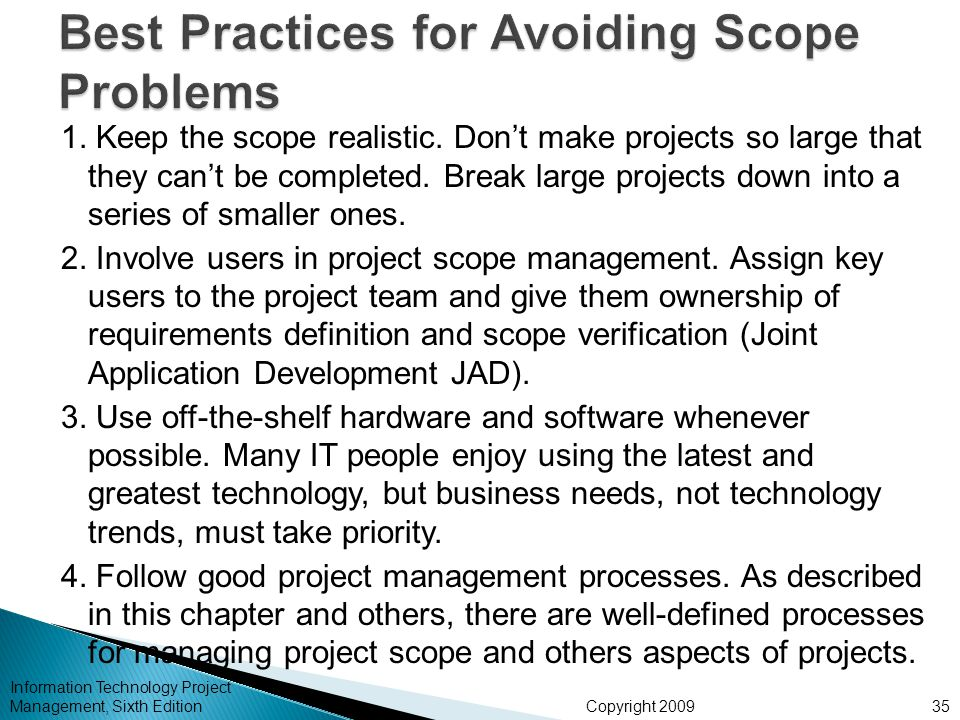 Best Practices for Avoiding Scope Problems
