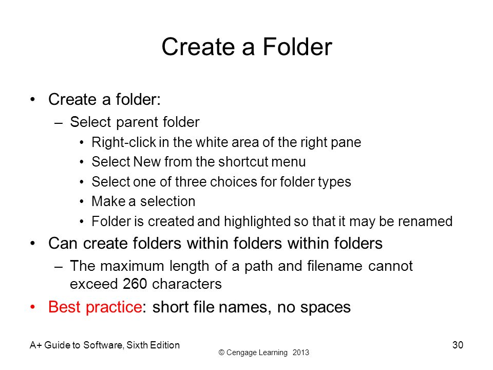 how to make new desktop parent folder