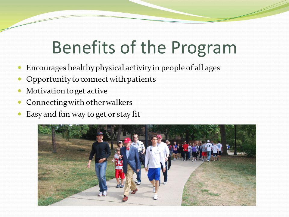 Benefits of the Program