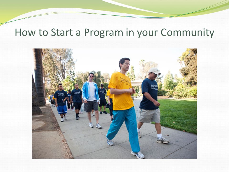 How to Start a Program in your Community