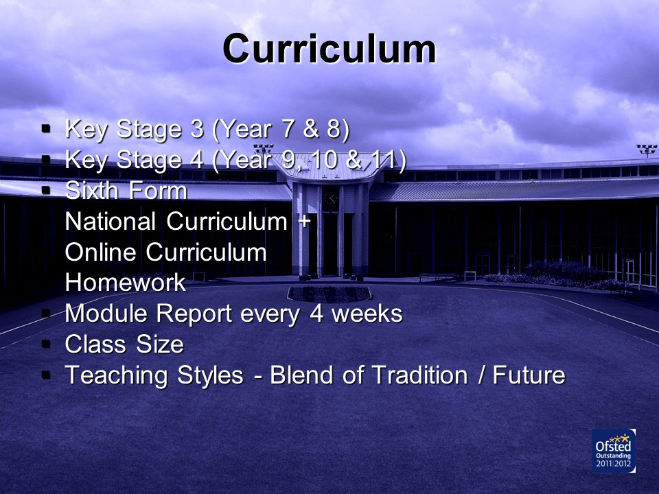 Curriculum Key Stage 3 (Year 7 & 8) Key Stage 4 (Year 9, 10 & 11)