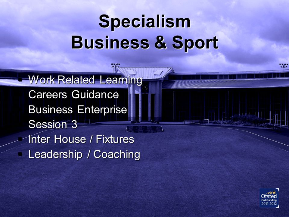Specialism Business & Sport