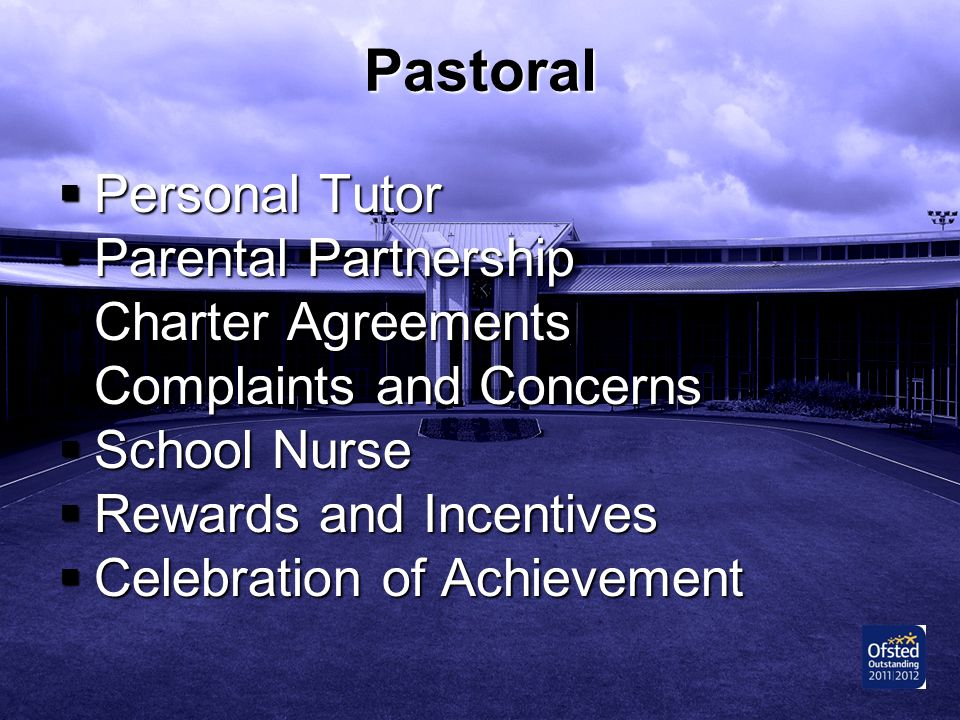 Pastoral Personal Tutor Parental Partnership Charter Agreements